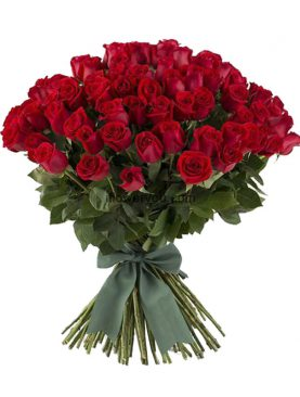 50 Red Roses Luxurious Bouquet