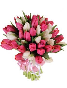 40 Mixed Tulips Bouquet