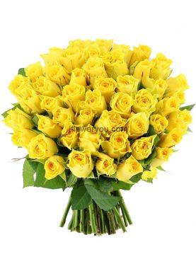 50 Summer Yellow Roses