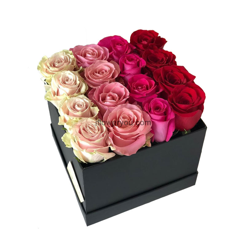 mixed roses box birthday box of roses flowers delivery lebanon. Black Bedroom Furniture Sets. Home Design Ideas