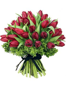 Everlasting Love - 30 Red Tulips