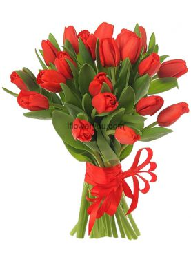 La Dolce Vita - 20 Red Tulips Bouquet