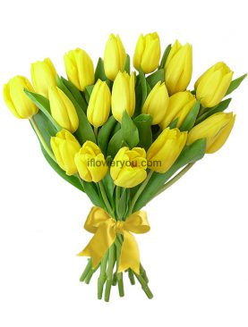 20 Yellow Tulips Bouquet