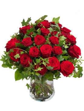 Eye Catching Red Rose Bouquet Medium
