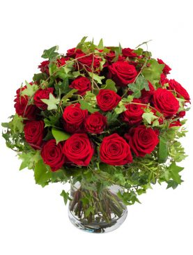 Eye Catching Red Rose Bouquet Large