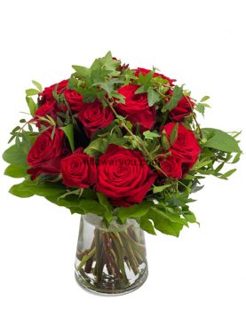Eye Catching Red Rose Bouquet Small