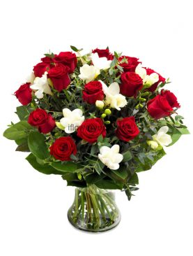 Silent Love Red Roses Bouquet Large