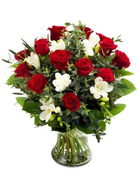 Silent Love Red Roses Bouquet Small