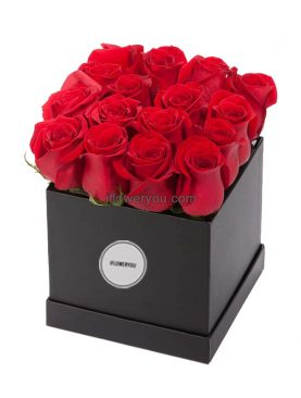 Romantic Red Roses Flower Box - Medium