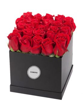 Romantic Red Roses Flower Box - Large