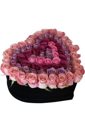 Heart Of Luxury Purple Roses