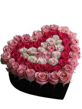 Heart Of Luxury Pink Roses