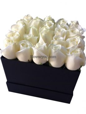 Mother's Day Thank You White Flowers Box - Large