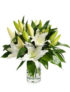 Sweet MOM - Mother's Day White Lily Bouquet