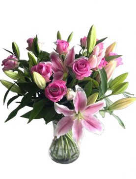 Sweet Memories - Mother's Day Lily & Roses Bouquet